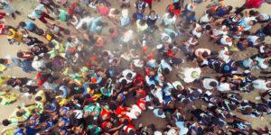 aerial crowd