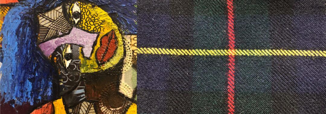 african art and scottish tartan